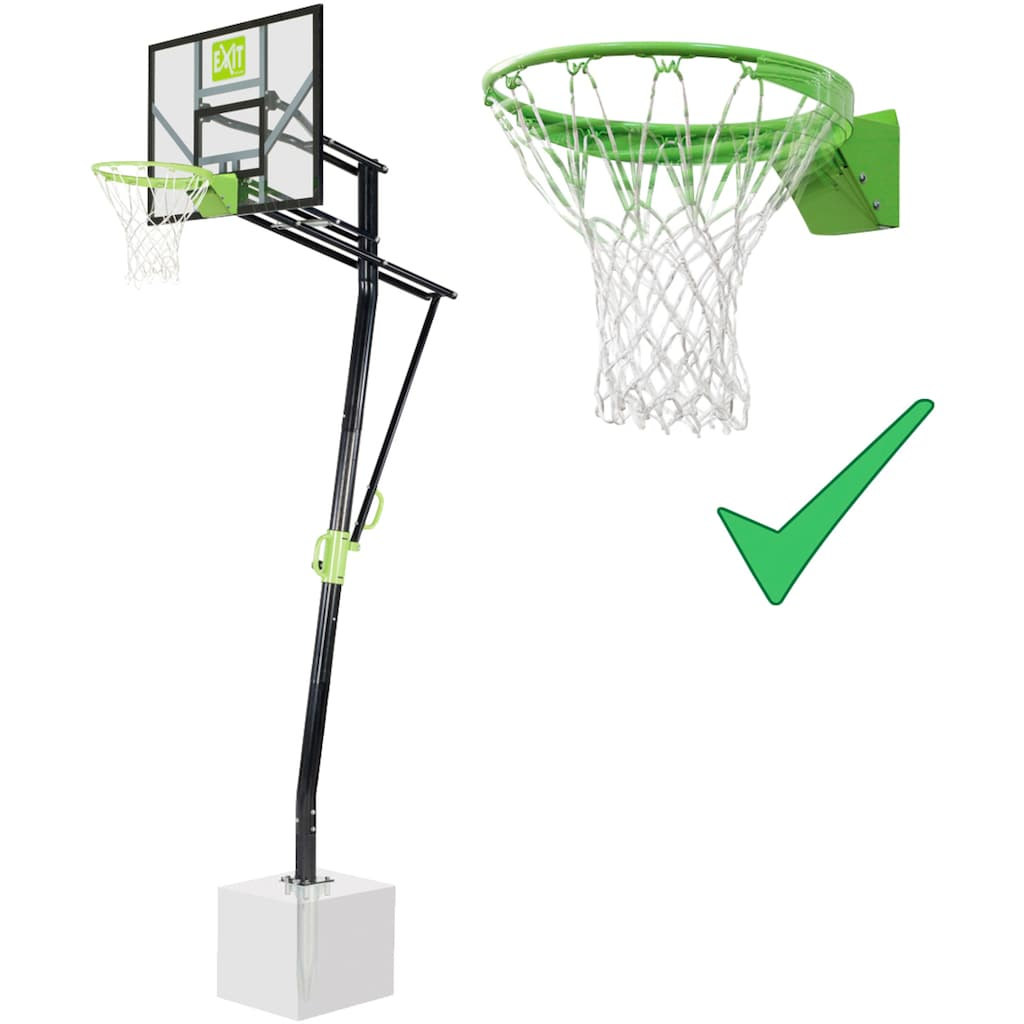 EXIT Basketballständer »GALAXY Inground Dunk«, in 5 Höhen einstellbar