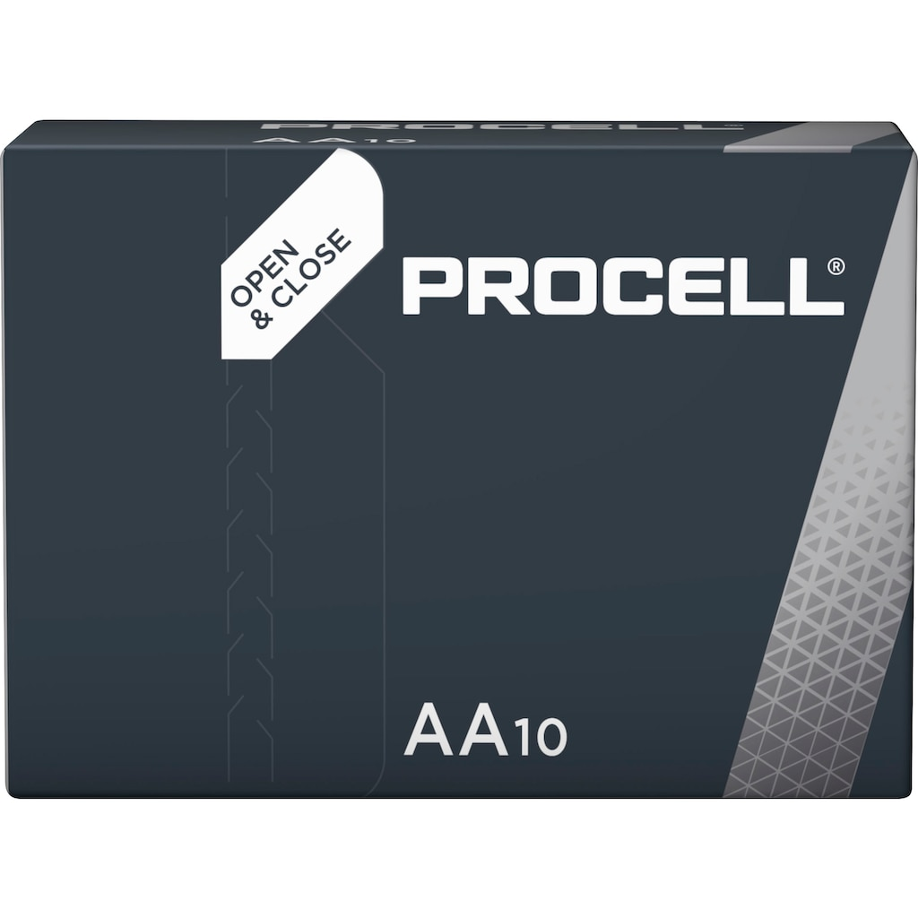 Duracell Batterie »Batterie Alkaline, Mignon, AA, LR06, 1.5V, Procell, Box (10-Pack)«, (Packung)