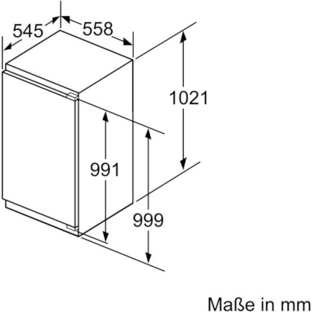 BOSCH Einbaugefrierschrank »GIN31ACE0«, 6, 102,1 cm hoch, 55,8 cm breit