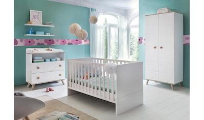 Babyzimmer-Komplettset »Cannes«, (Set, 3 St.), Bett + Wickelkommode + 2 trg. Schrank kaufen