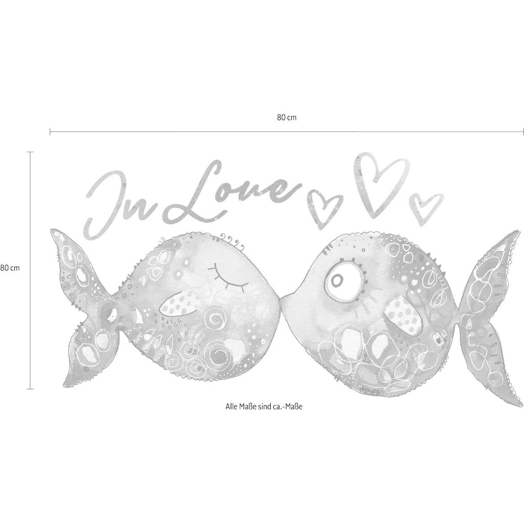 Wall-Art Wandtattoo »Verliebte Fische«