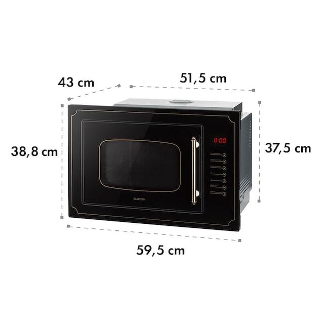 Klarstein Einbau-Mikrowelle, 25 l, 900 W, Grill: 1000 W, schwarz »Victoria 25«