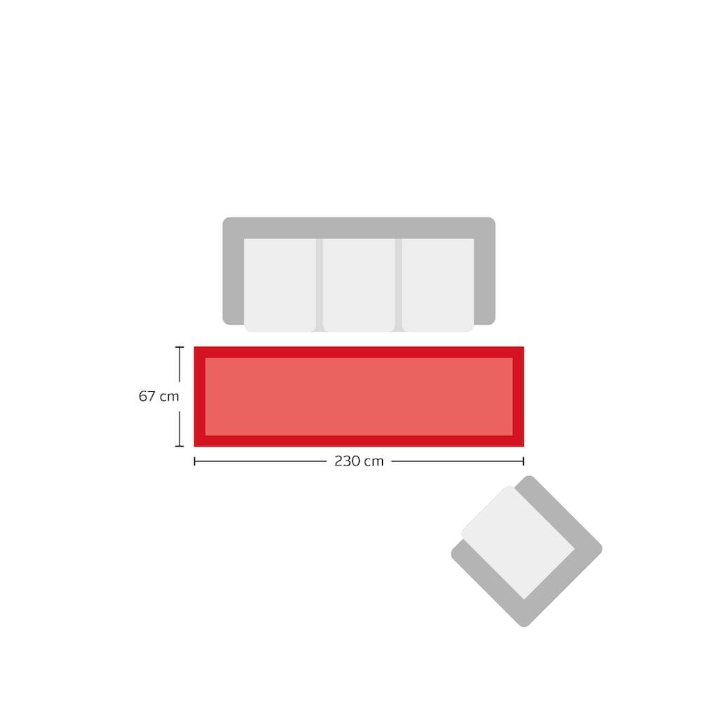 Home affaire Läufer »Fenris«, rechteckig, 12 mm Höhe, Teppich-Läufer, mit handgearbeitetem Konturenschnitt