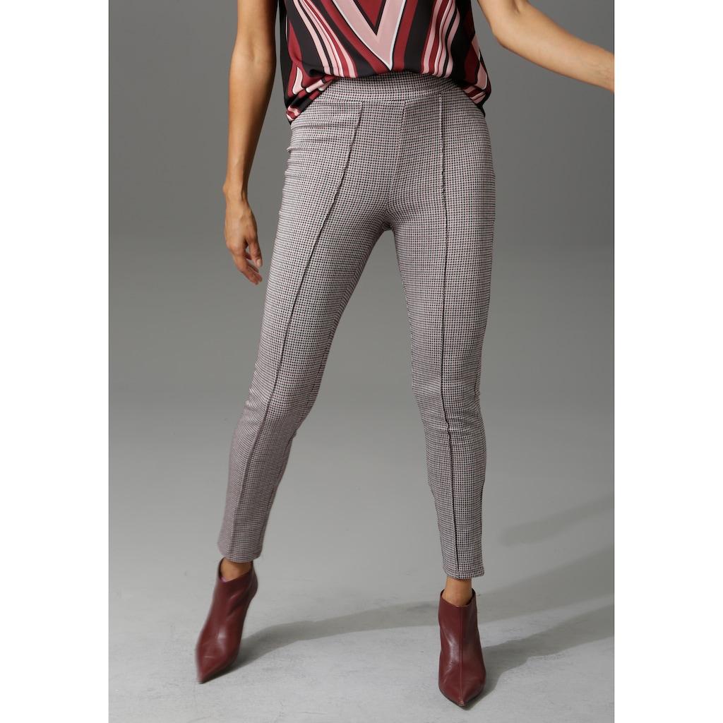 Aniston SELECTED Leggings, mit modischer Biese