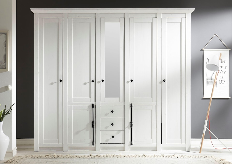 kleiderschrank serie california in breite 147cm und. Black Bedroom Furniture Sets. Home Design Ideas
