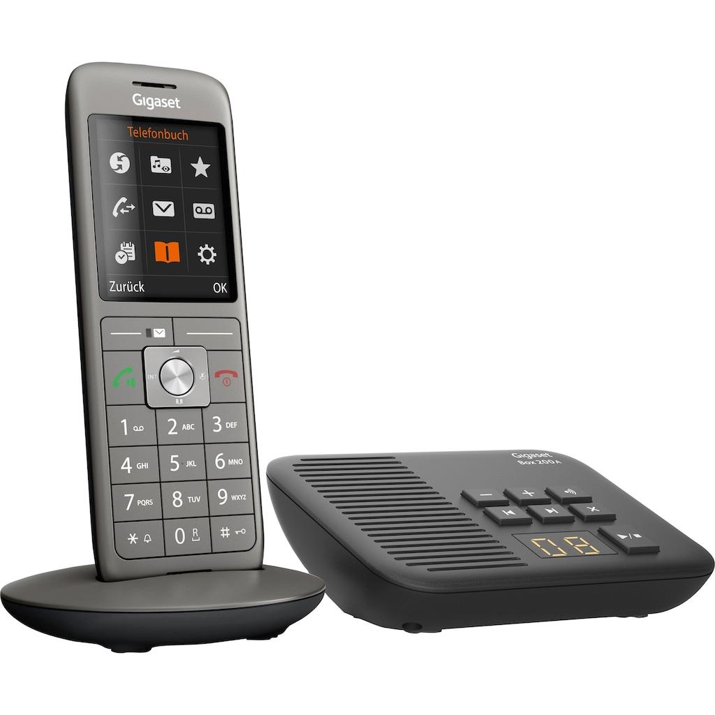 Gigaset Schnurloses DECT-Telefon »CL660A mit Box 200A«, (Mobilteile: 1 ), mit Anrufbeantworter