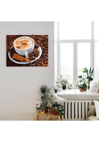Artland Wandbild »Cappuccino - Kaffee«, Getränke, (1 St.), in vielen Größen &... kaufen
