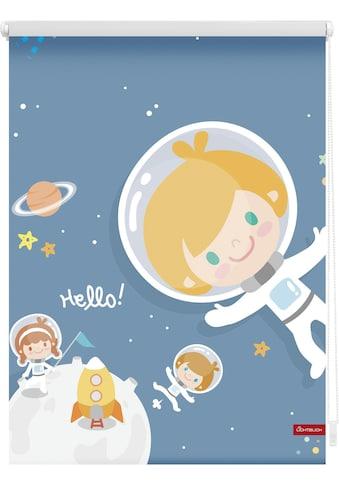 Seitenzugrollo »Klemmfix Motiv Astronaut«, LICHTBLICK, Lichtschutz, ohne Bohren, freihängend kaufen