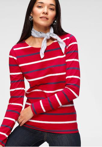 TOM TAILOR Polo Team Langarmshirt, in verschiedenen Streifen- oder Druckdesigns - NEUE... kaufen
