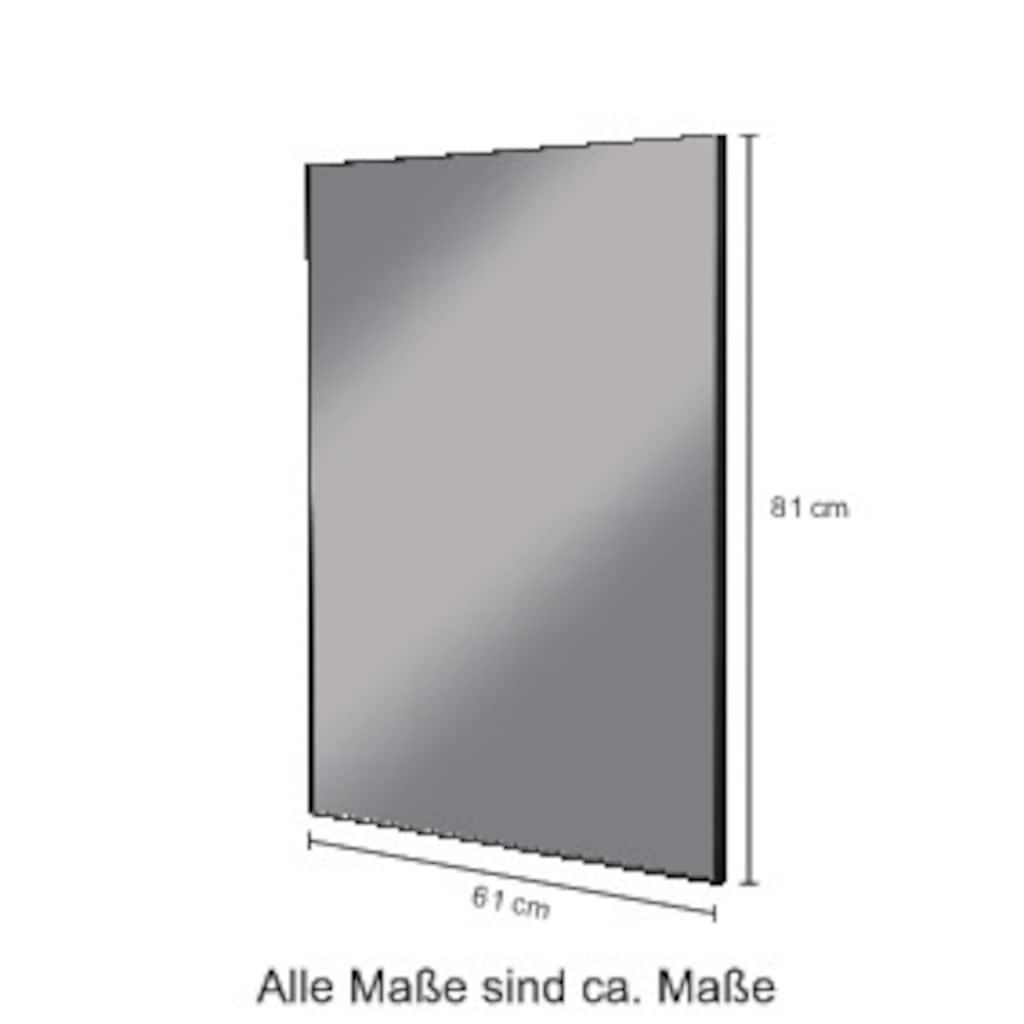 welltime Wandspiegel »Loft«, 80 x 60 cm, quer oder längs montierbar