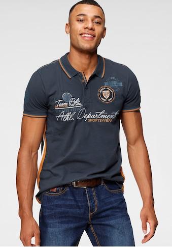 Bruno Banani Poloshirt, mit hochwertigen Stickereien kaufen