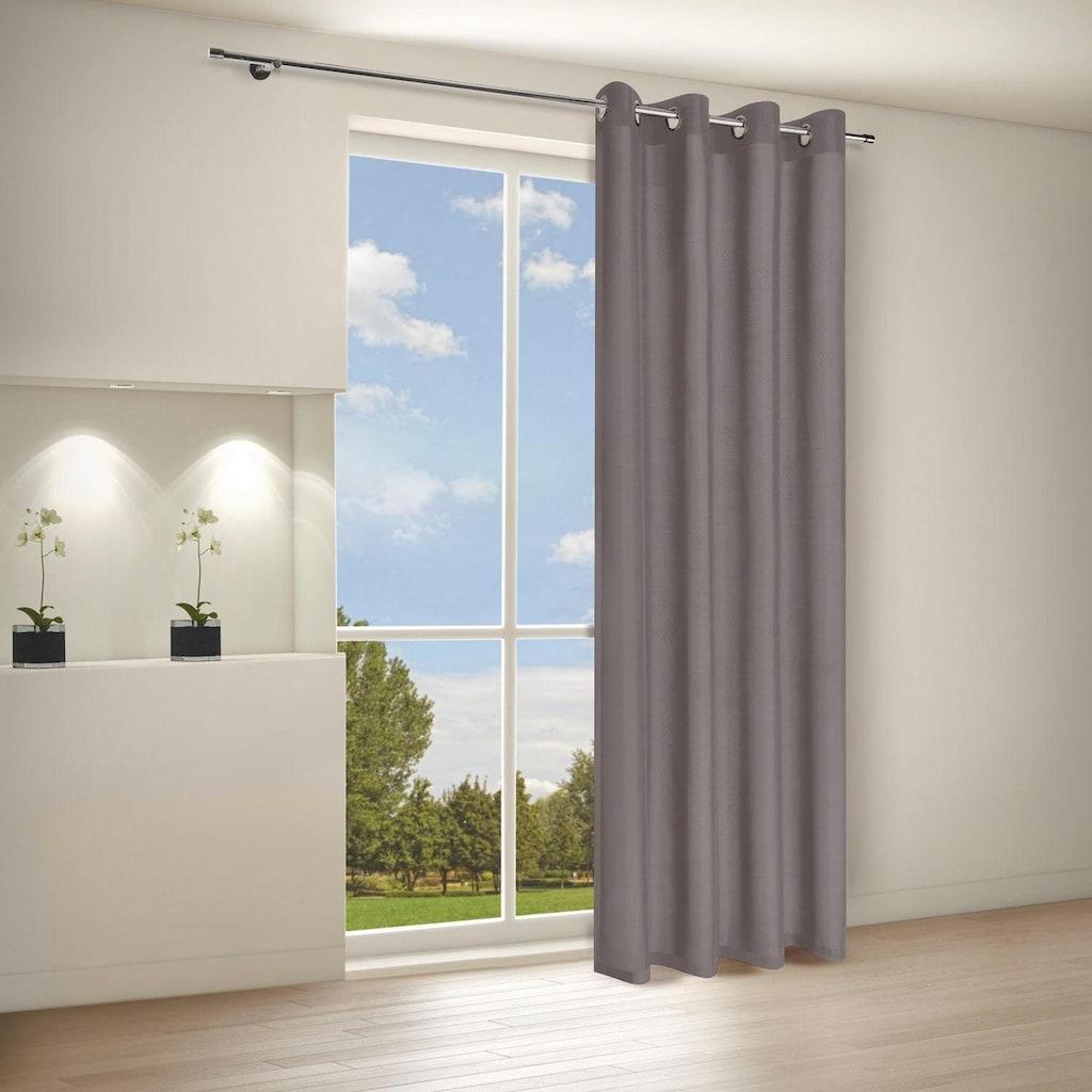 Gerster Vorhang »Ilia«, HxB: 235x140, klasischer Uni Ösenschal