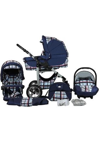"bergsteiger Kombi - Kinderwagen ""Capri, blue stripes, 3in1"", (10 - tlg.) kaufen"