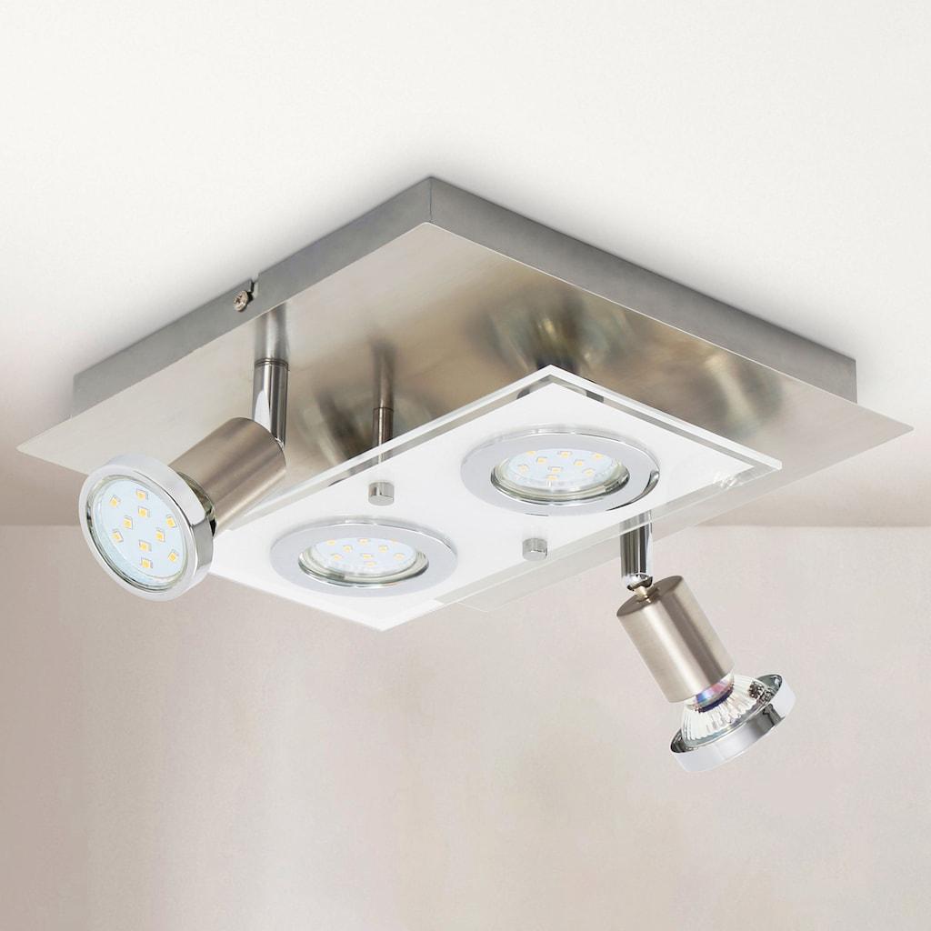 B.K.Licht LED Deckenleuchte »Mercurio«, GU10, Warmweiß, LED Deckenspot Decken-Strahler Flur Wohnzimmer Deckenlampe inkl. 3W 250lm
