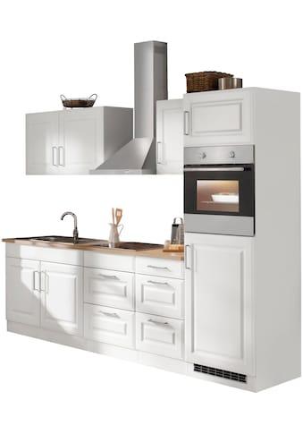 HELD MÖBEL Küchenzeile »Stockholm«, mit E-Geräten, Breite 270 cm, wahlweise mit... kaufen