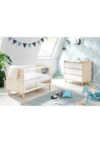 Pinolino® Babymöbel-Set »Flow«, (Spar-Set, 2 St.), mit Kinderbett und Wickelkommode;... kaufen