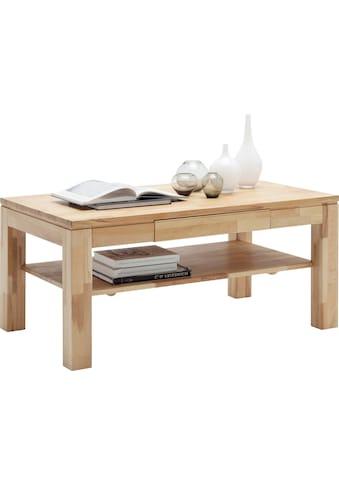 MCA furniture Couchtisch, Massivholztisch mit Ablage kaufen