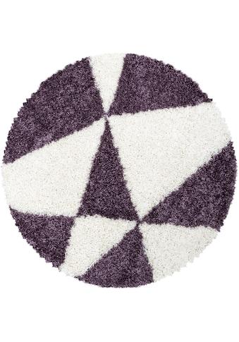 Ayyildiz Hochflor-Teppich »TANGO 3101«, rund, 50 mm Höhe kaufen