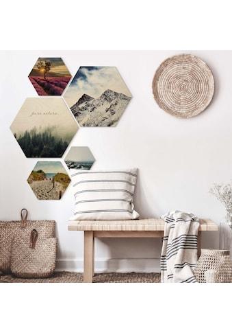 Wall-Art Mehrteilige Bilder »Natur Collage Landschaft Bilder«, (Set, 5 St.) kaufen