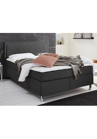 ATLANTIC home collection Boxbett, mit Tonnentaschenfederkern - Matratze und Topper, wahlweise mit Bettkasten kaufen