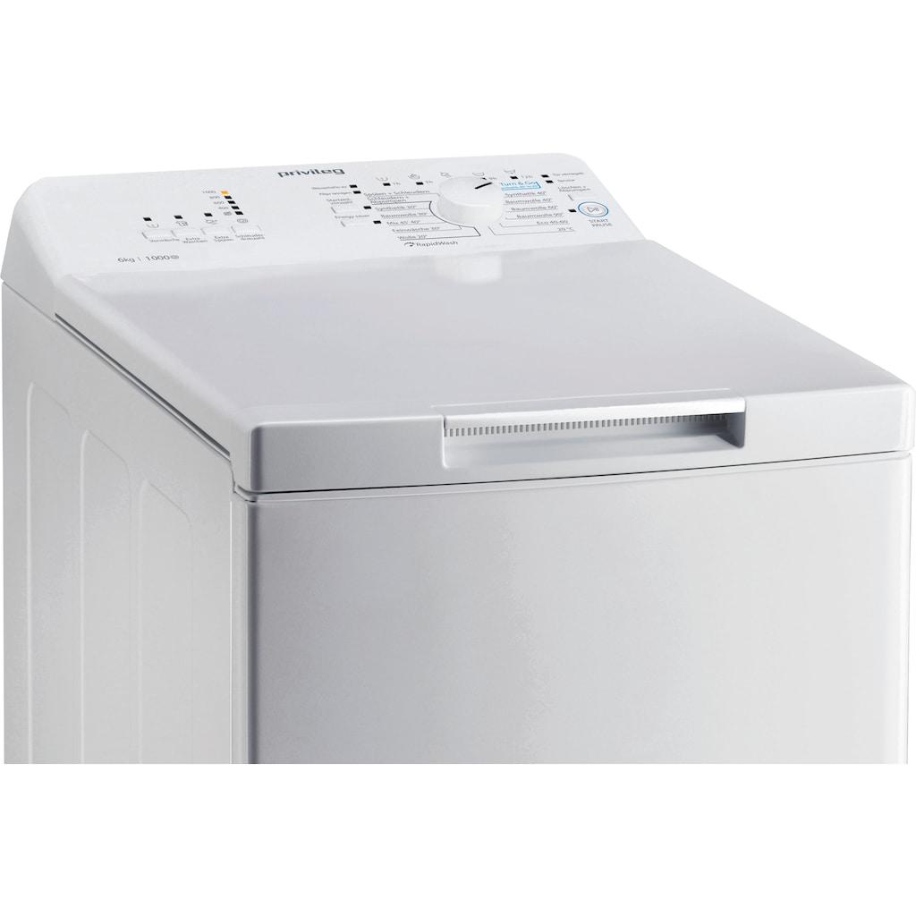 Privileg Waschmaschine Toplader »PWT L60300 DE/N«, PWT L60300 DE/N, 6 kg, 1000 U/min