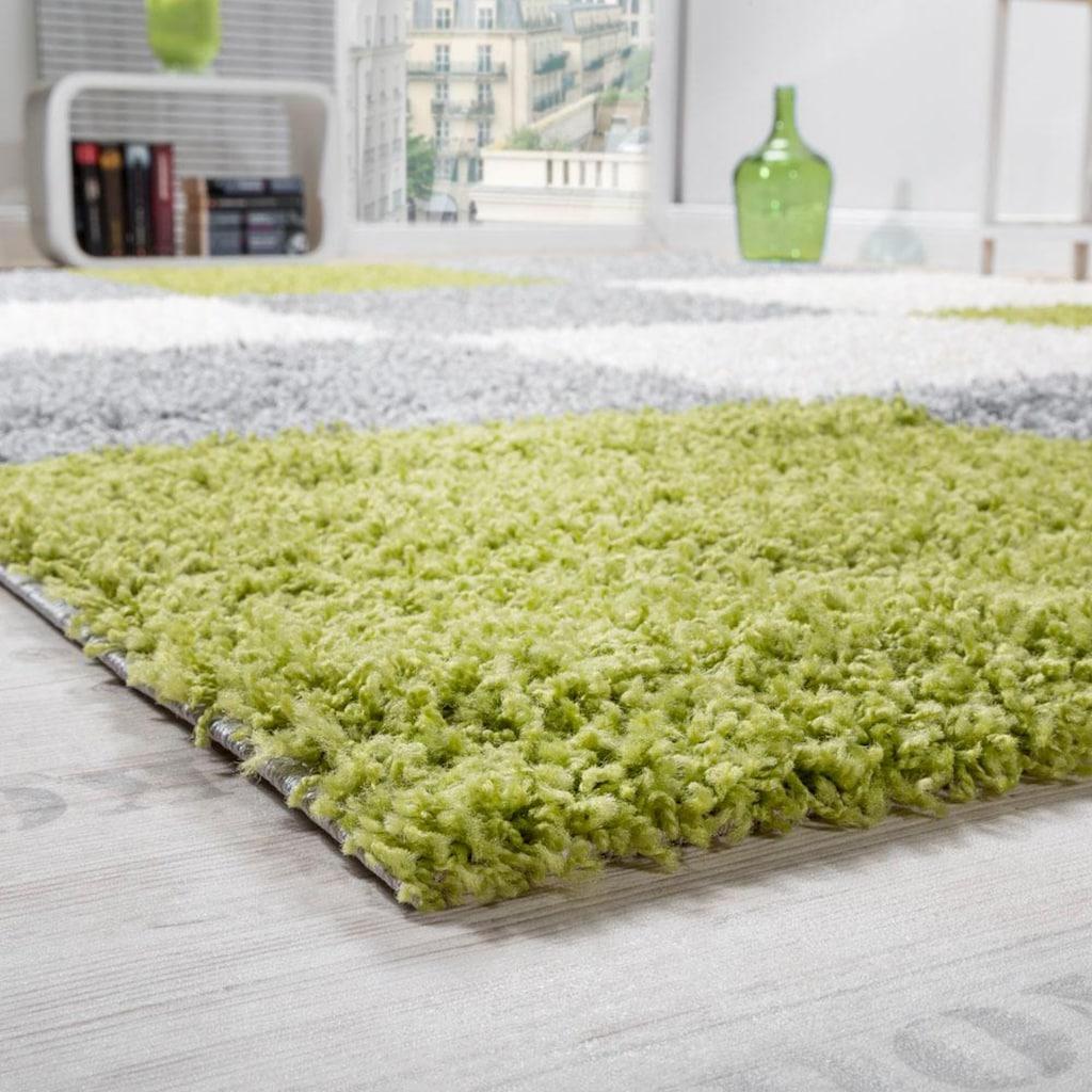 Hochflor-Teppich, »Mango 316«, Paco Home, rechteckig, Höhe 35 mm, maschinell gewebt