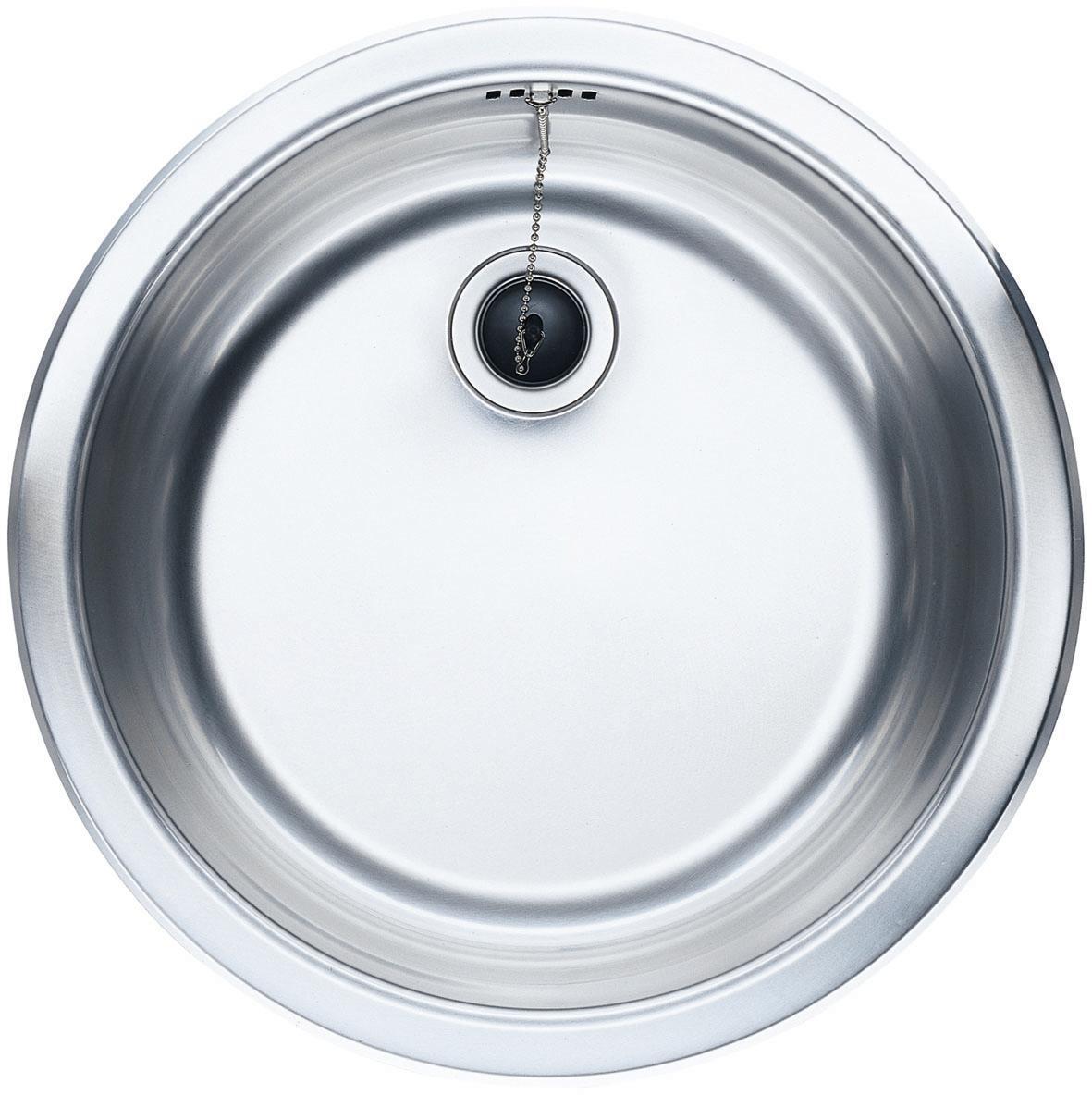 OPTIFIT Edelstahl-Einbauspüle Rundbecken | Küche und Esszimmer > Spülen > Einbauspülen | Silberfarben | Edelstahl | OPTIFIT