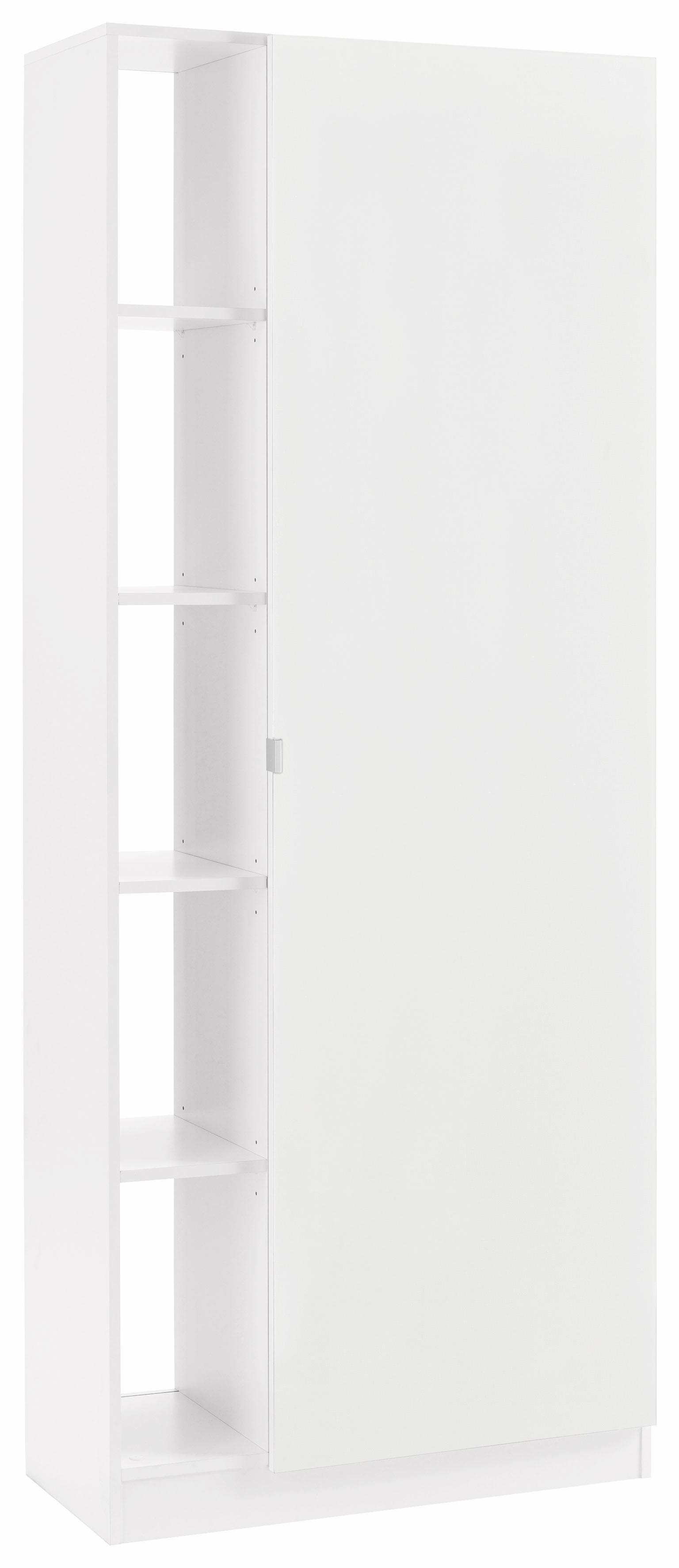 Borchardt Möbel Garderobenschrank »Dolly« mit 5 offenen Fächern und Metallgriffen | Flur & Diele > Garderoben > Garderobenschränke | Weiß | Melamin | BORCHARDT MÖBEL