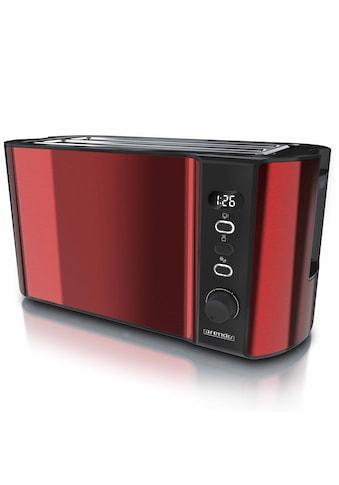 Arendo Toaster »Frukost Rot«, 2 lange Schlitze, 1500 W, 1500W mit Display kaufen