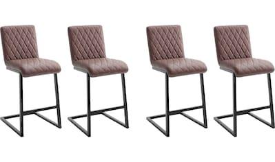 MCA furniture Bistrostuhl »Kian«, Tresenhocker im Vintage Look, Belastbar bis 120 kg kaufen