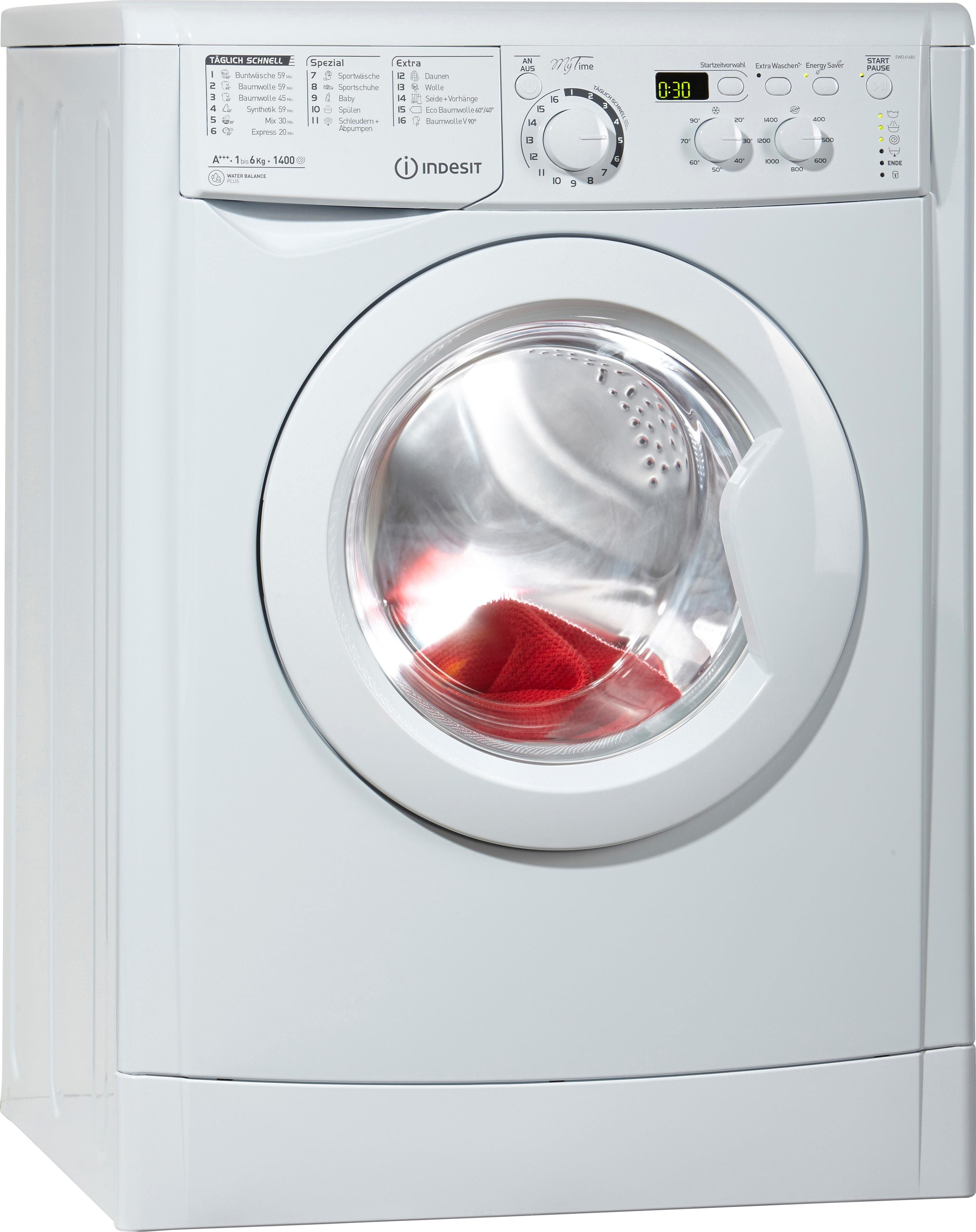 Indesit Waschmaschine EWD 61483 W DE | Bad > Waschmaschinen und Trockner > Frontlader | Indesit
