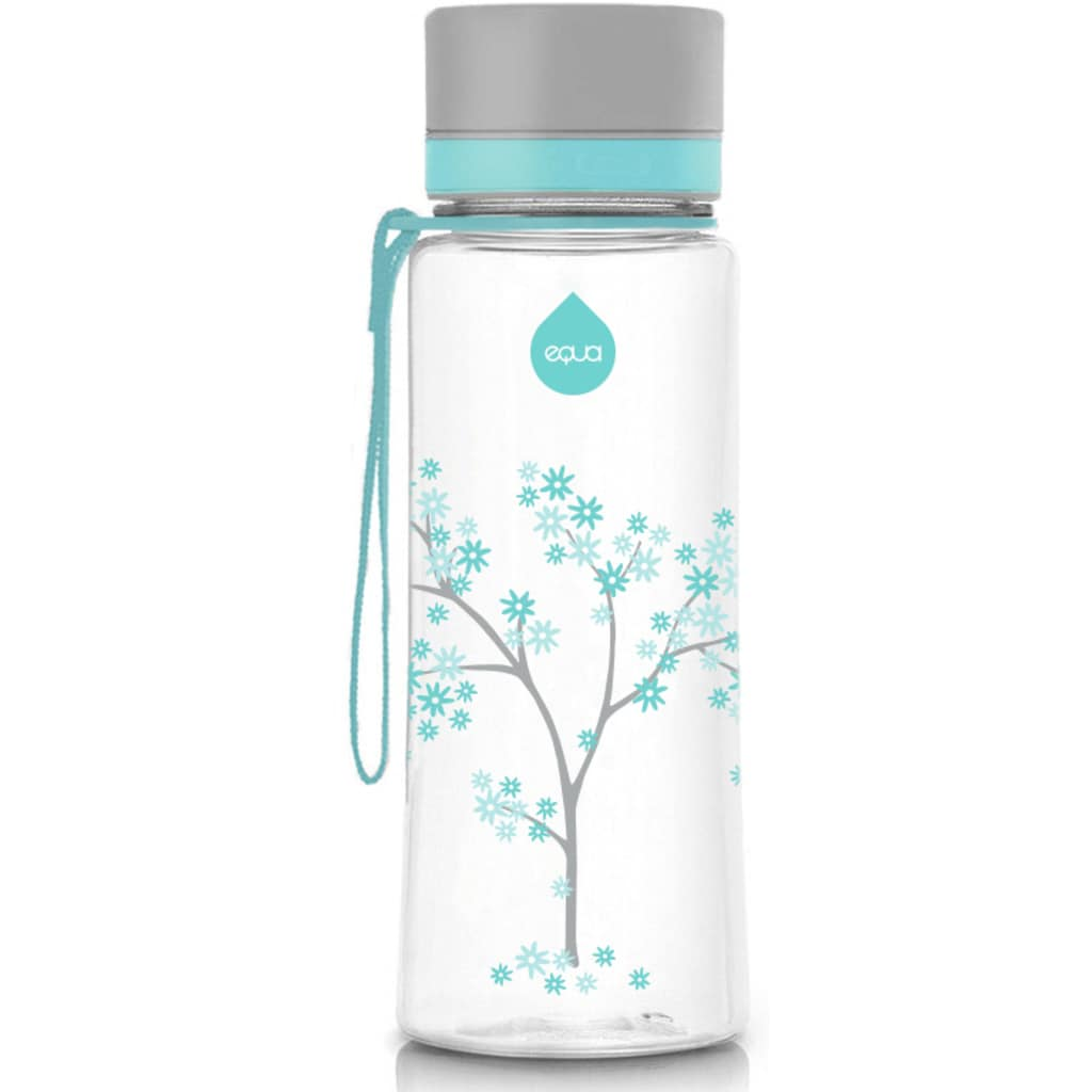 equa Trinkflasche »Kids Mint Blossom«, Tritankunststoff, Inhalt 600 ml
