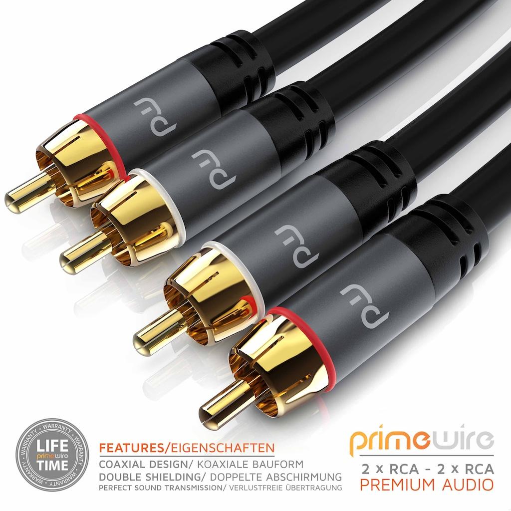 Primewire Audio-Kabel »2x Cinch auf 2x Cinch Audio Stecker«, 50 cm