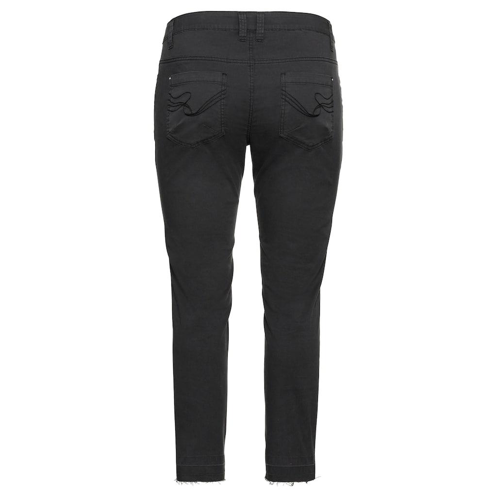 Sheego 5-Pocket-Hose, mit Nieten und Destroyed-Effekten