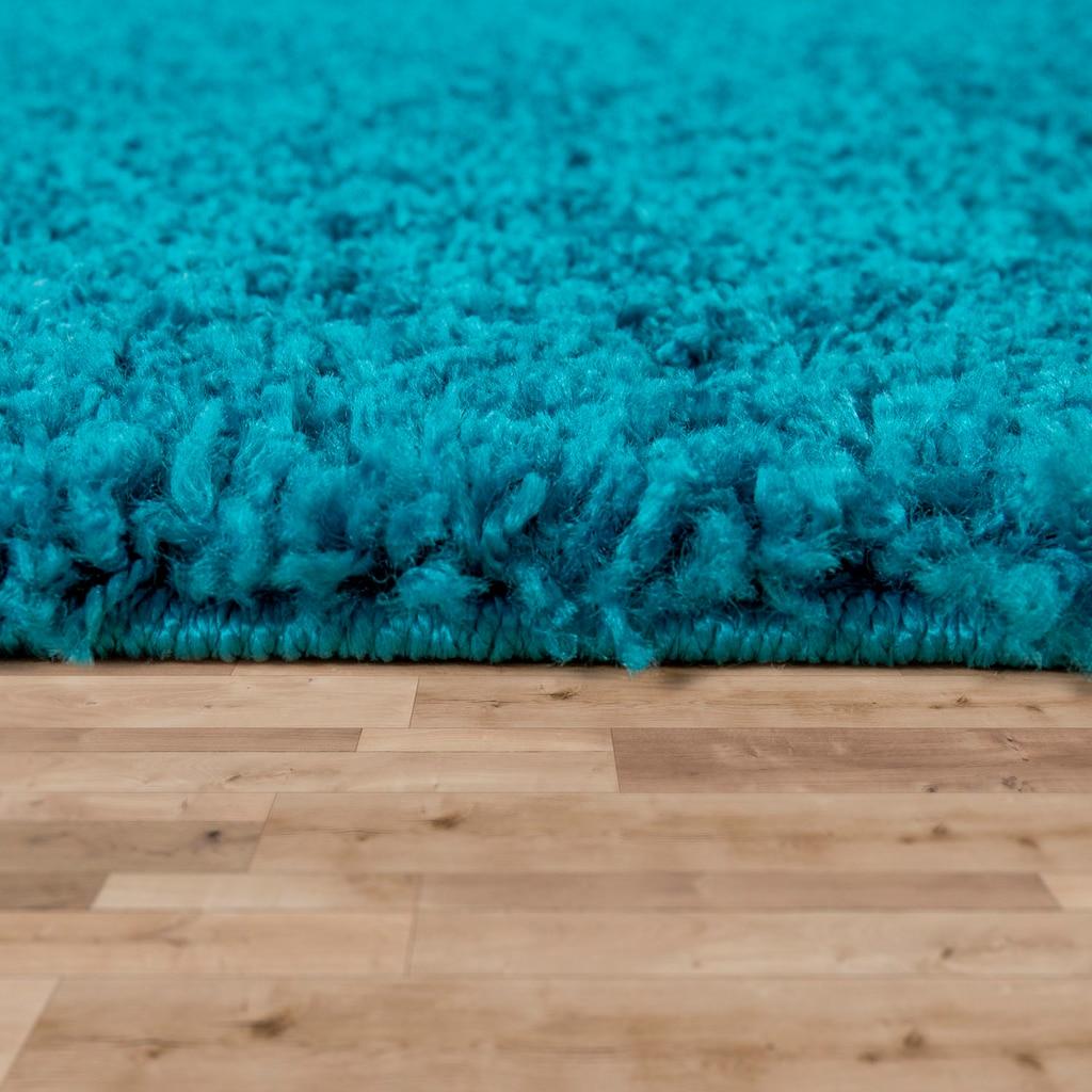 Paco Home Hochflor-Teppich »Nox 270«, rechteckig, 35 mm Höhe, Hochflor-Shaggy, einfarbig und weich