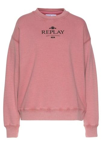Replay Sweatshirt, ORGANIC COTTON - Markenlogo kaufen