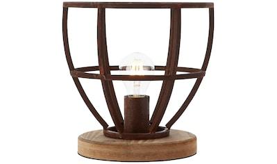 Brilliant Leuchten Matrix Wood Tischleuchte 25cm rostfarbend kaufen