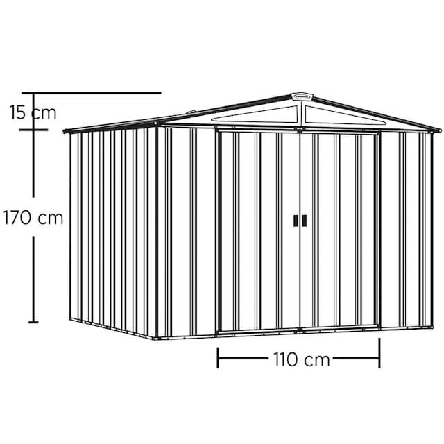 SPACEMAKER Stahlgerätehaus BxTxH: 253x181x190 cm