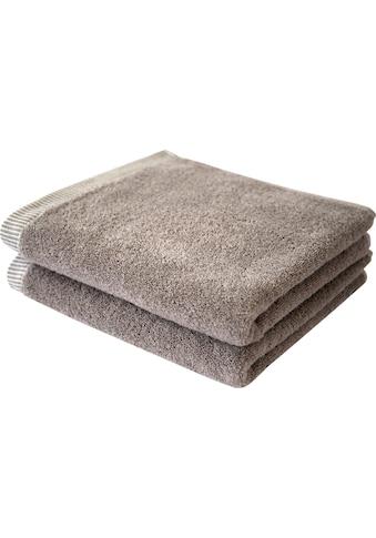 Dyckhoff Handtücher »Nadelstreifen«, (2 St.), mit gemustertem Saumabschluss kaufen