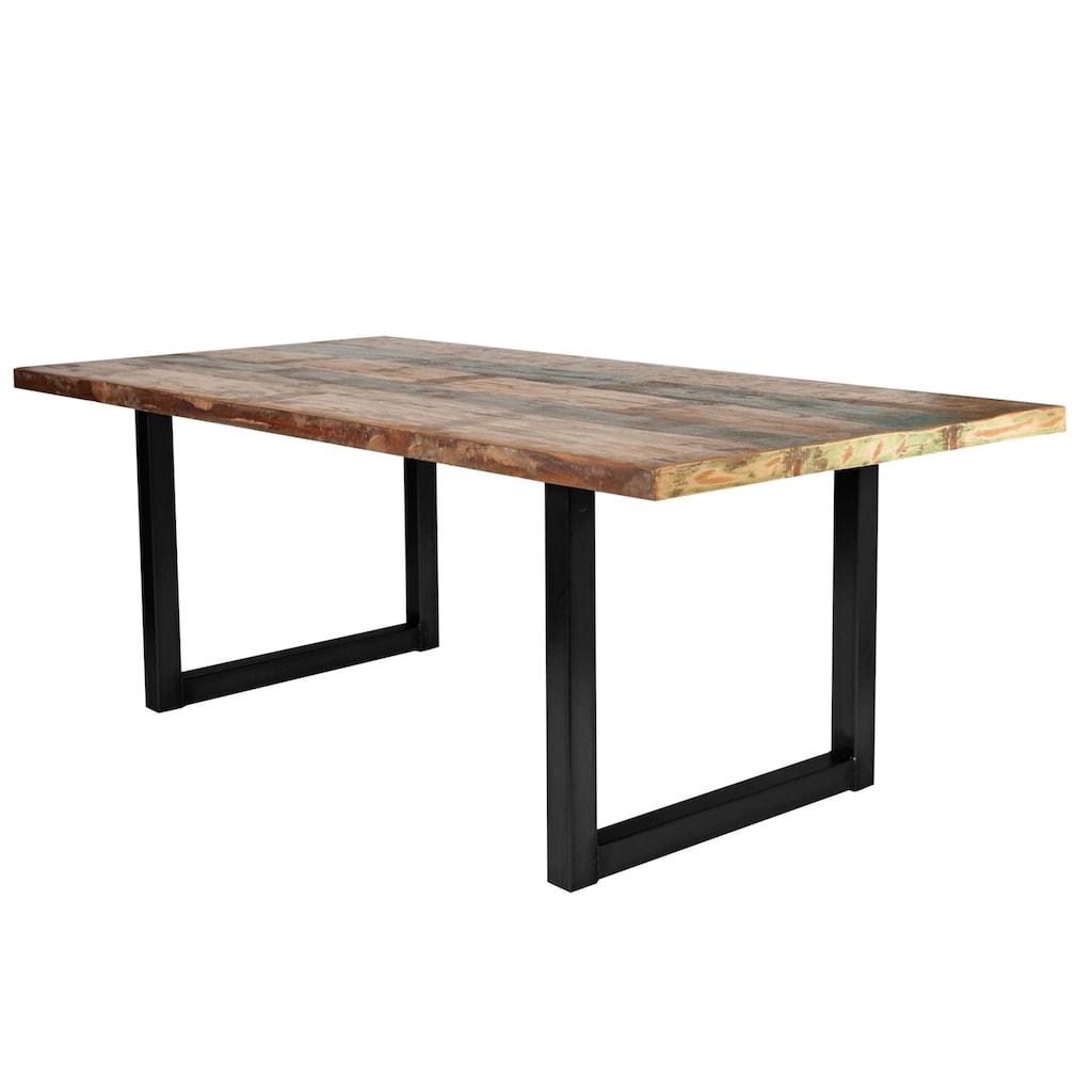 SIT Esstisch »Tops«, aus recyceltem Altholz und Metall, Shabby Chic, Vintage