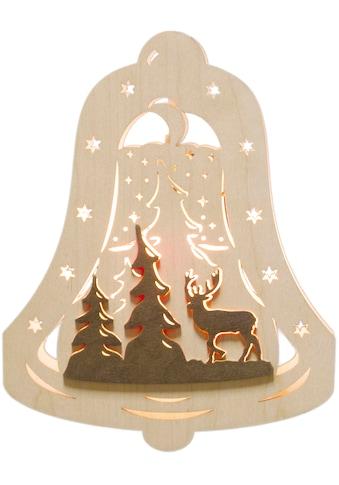 Weigla Beleuchtetes Fensterbild »Waldmotiv«, Motiv eingerahmt in Glocke kaufen