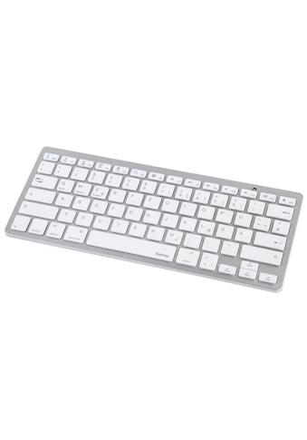 "Hama Bluetooth-Tastatur ""KEY4ALL X510"", Silber/Weiß kaufen"