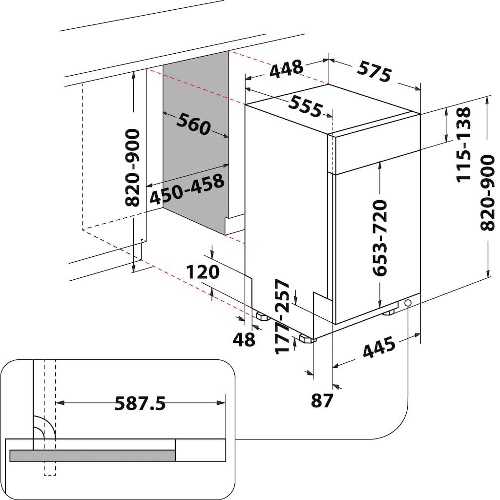 Privileg teilintegrierbarer Geschirrspüler »RSBC 3M19«, RSBC 3M19 X (2), 10 Maßgedecke