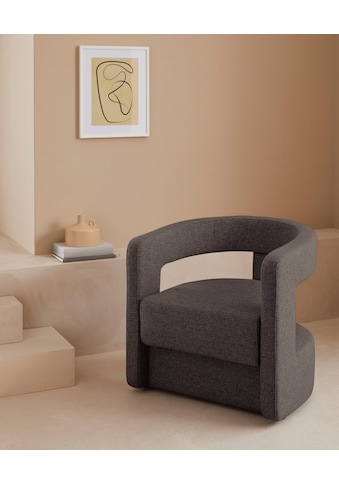 LeGer Home by Lena Gercke Sessel »Taraneh«, besonderes Design, auch in Bouclé-Stoff kaufen