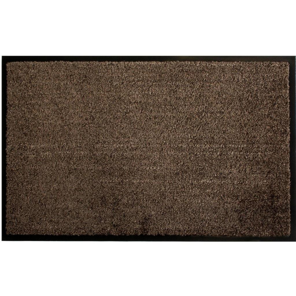 Primaflor-Ideen in Textil Fußmatte »CLEAN«, rechteckig, 9 mm Höhe, Schmutzfangmatte, große Farbauswahl, In- und Outdoor geeignet, waschbar
