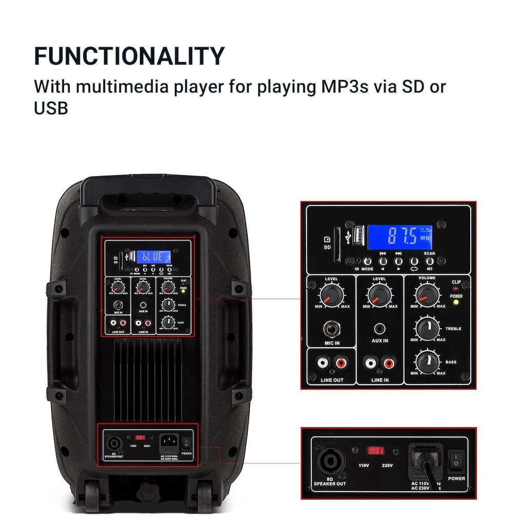 Malone PA-Lautsprecher aktiv und passiv max. 700W Bluetooth schwarz