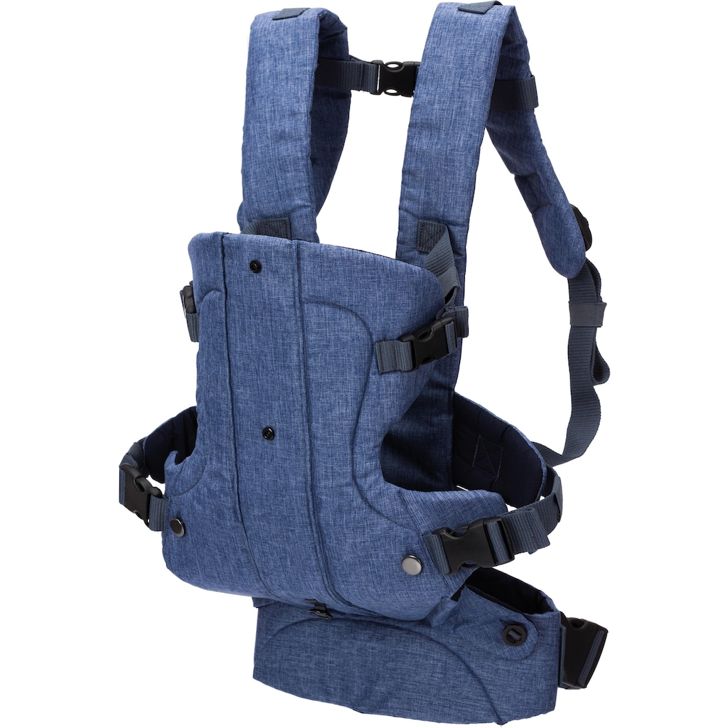 Fillikid Bauchtrage »WALK blau/melange«, bis 15 kg