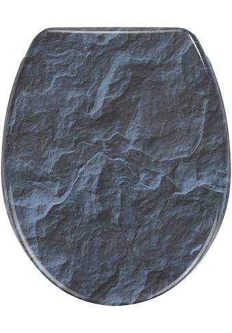 Wenko WC - Sitz »Slate Rock«, Mit Absenkautomatik kaufen