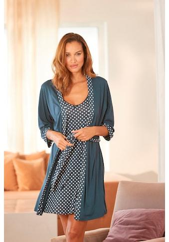 Vivance Dreams Kimono, mit gepunkteten Einsätze kaufen