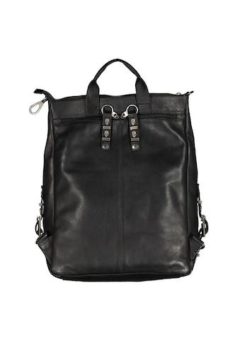 JACK'S INN 54 Cityrucksack »Tuxedo«, aus Leder, kann als Rucksack oder Umhängetasche... kaufen